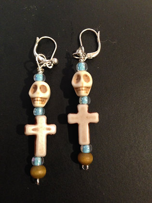 Skull and bone earrings