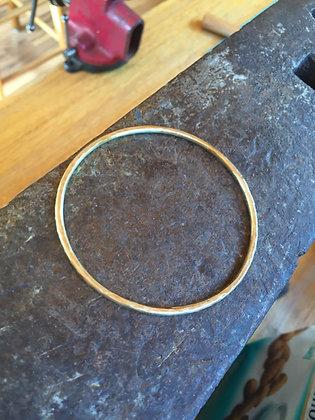Brass hammered bangle