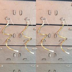 Brass swirl earrings