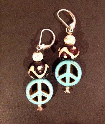 """""""Peace Baby"""" earrings"""