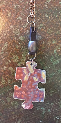 Autism Awareness hand-made puzzle piece