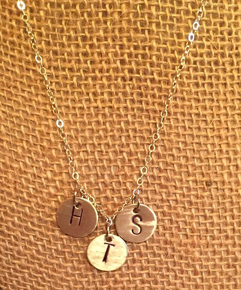 Personalized monogrammed necklaces