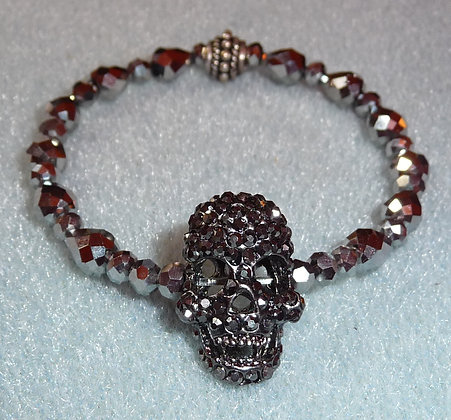 Fancy skull cocktail bracelet