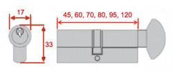 Thumb Turn Lock Cylinder