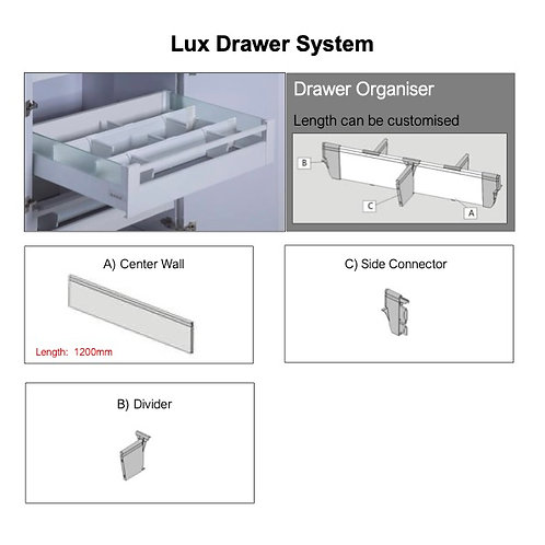Lux Drawer Divider