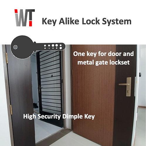 Key Alike Lock System