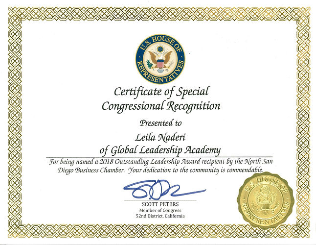 Congressional Recognition-Leila Naderi-G