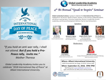 Celebrating the International Day of Peace: 4th Bi-Annual Speak to Inspire Seminar