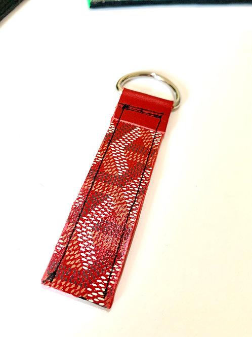 Red Goyard Key Chain