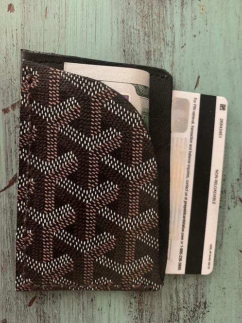 Black Goyard Card Holder / wallet (Remix)