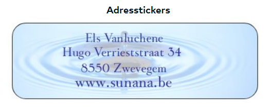 Sticky Address Labels