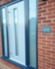 French grey doors, grey doors, modern doors, modern windows, opaque glass, modern windows and doors, new conservatories, cheap conservatories, luxury conservatories