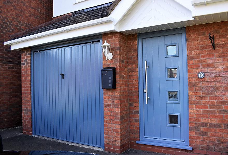 blue doors, blue garage door, garage doors, brickwork, new windows, new doors, halesowen windows, halesowen doors, hagley doors, hagley windows, exterior lights