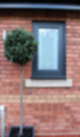 Modern Anthracite Grey windows and doors in worcestershire. composite high quality doors upvc high quality windows and doors flush sash