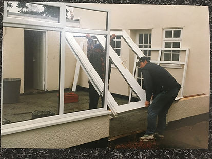 UPVC Conservatory being built in The West Midlands New upvc windows and doors, high quality replacemet windows and doors colour frames in Pedmore, Norton, Stourbridge window installers, Pedmore window installers, supply and install high quality windows and doors stourbridge