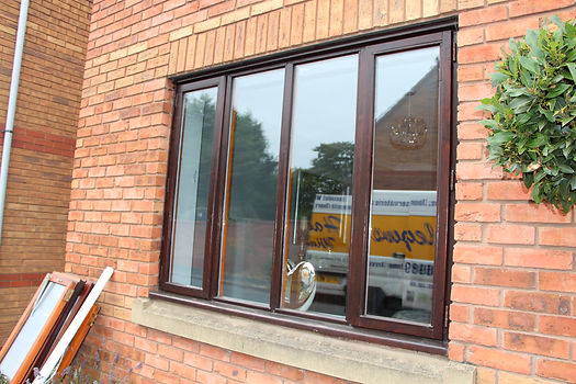 uPVC modern flush sash windows in Kidderminster. The residence collection new uPVC windows and doors Worcestershire,modern window upgrades kiddermister, Anthracite grey windows and doors, new modern upvc windows, hig quality window installers kidderminster, R7 installers kidderminster, flush sash window installers