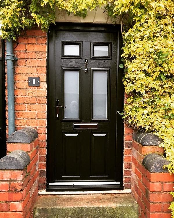 Traditional black door, Traditional solidor, double glazing, warm doors, eco, eco-friendly, natural