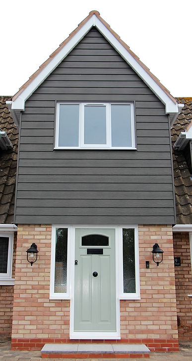 House extention, outside lights, porch, extention, traditional doors and windows, traditional house, black letter box, letter box inside door