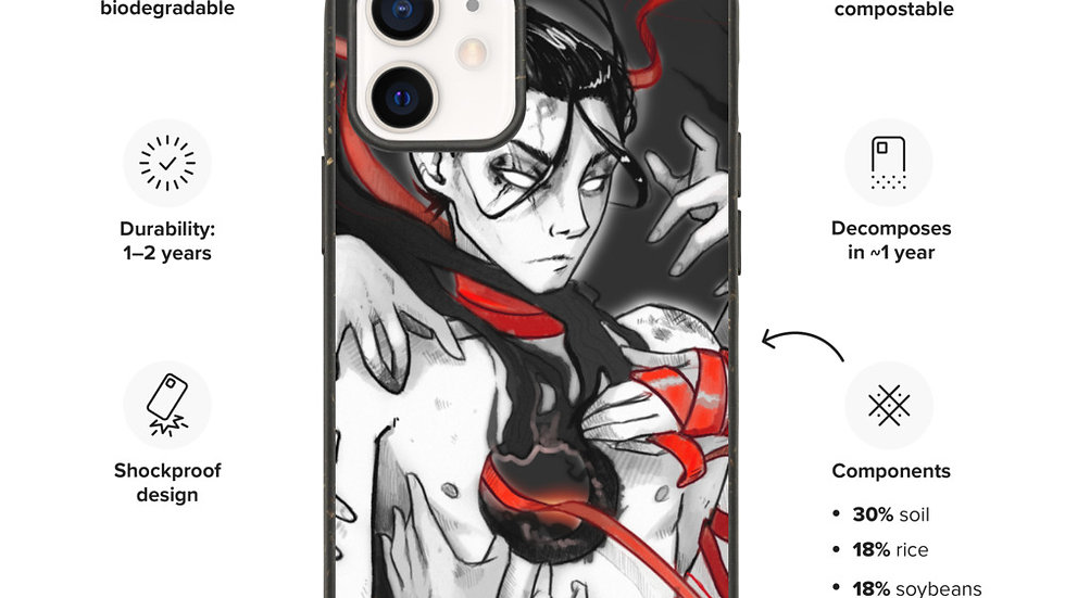 Biodegradable Red Ribbon phone case