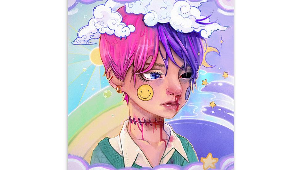 Pastel Boy Postcard
