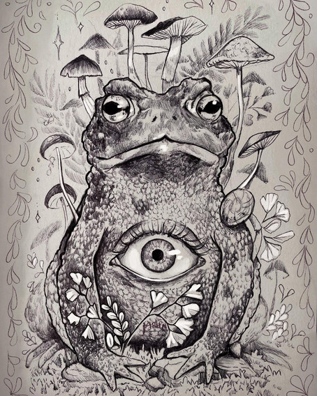 The Toad / Tarot Card