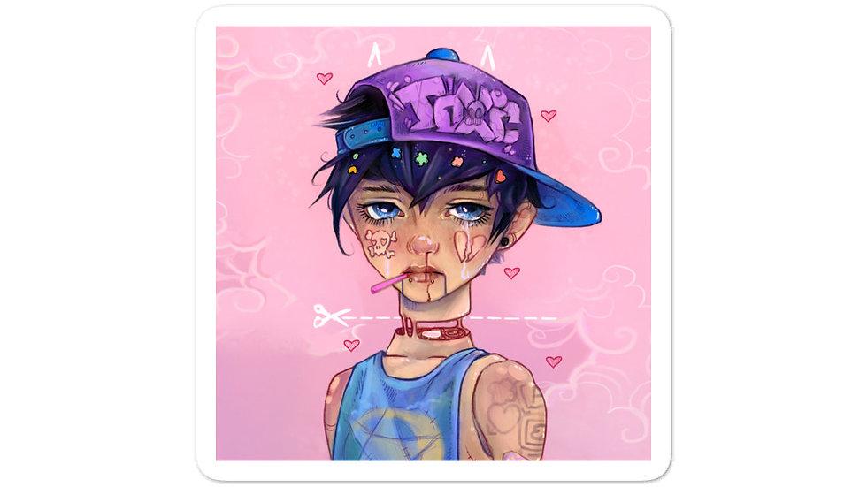 Pastel boy sticker