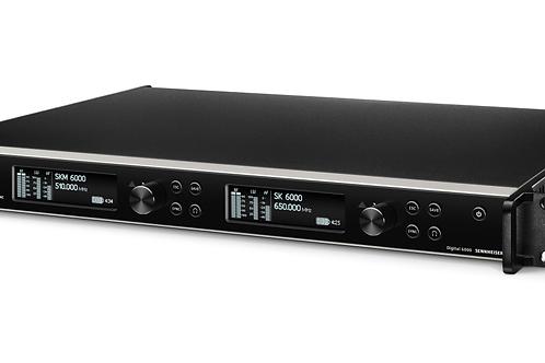 Sennheiser EM 6000 Dante Digital EU 2 Kanal UHF Empfänger  (Mietpreis / Tag exkl