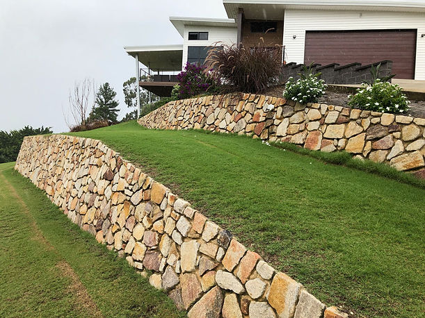 stone and rock retaining walls