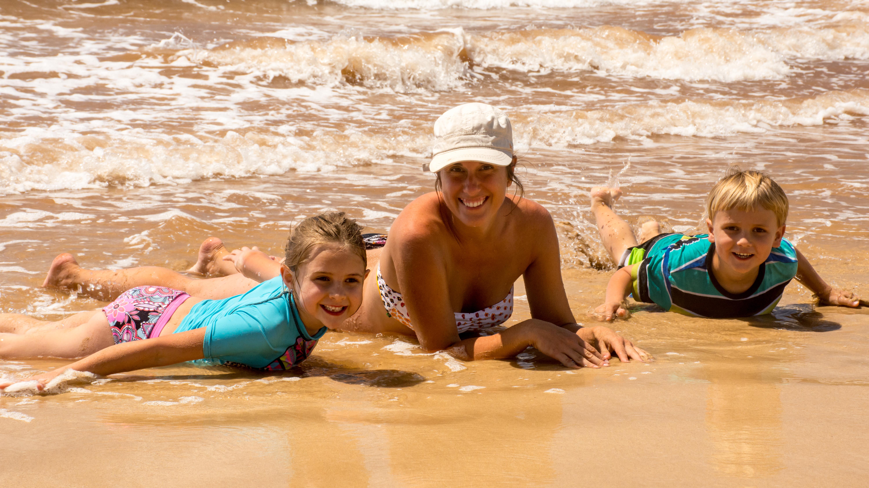 Fun time at the beach