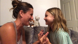 Giggles with her daughter
