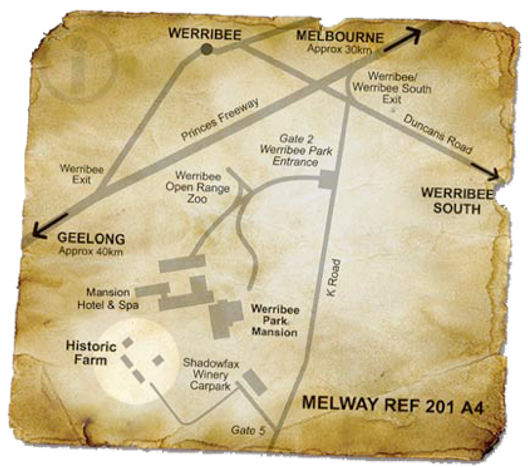 How to get to Historical Shows, Essence Productions, Tourism Australia, Tourism Victoria, Werribee