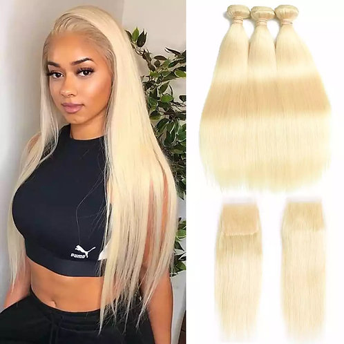 Blond Virgin Straight Bundles