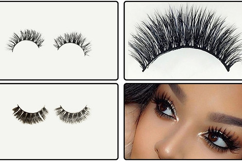 Hand Made Siberian Mink Soft Thick Natural 3D Strip Lashes