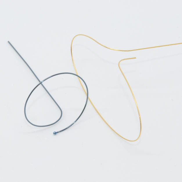 Nitinol w/ Ball, and Plated Loop