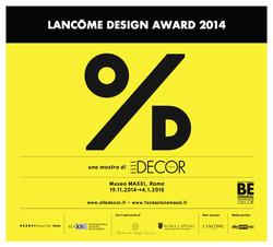 Lancome design award 2014 maxxi roma