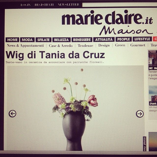 #wigvase #taniadacruz# totalbkack #headvase #design #milano #upcoming #new #wig #vase #flowers #happ