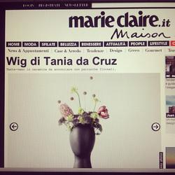 #wigvase #taniadacruz# totalbkack #headvase #design #milano #upcoming #new #wig #vase #flowers #happ