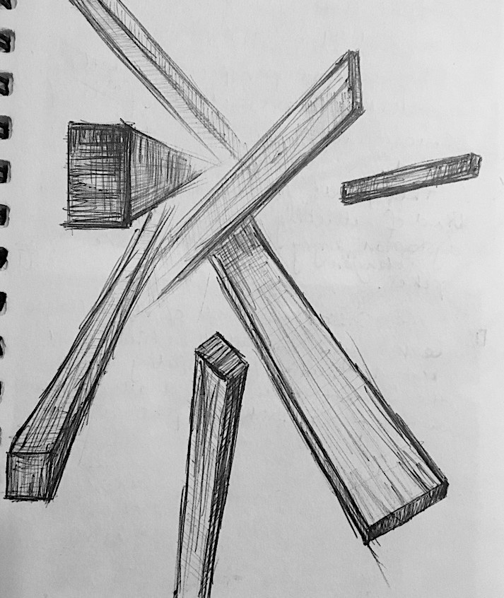 Collapse abstract sketch #1