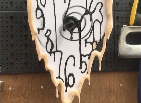 Attaching the clock face and frame