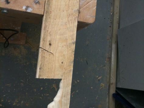 Melting wood