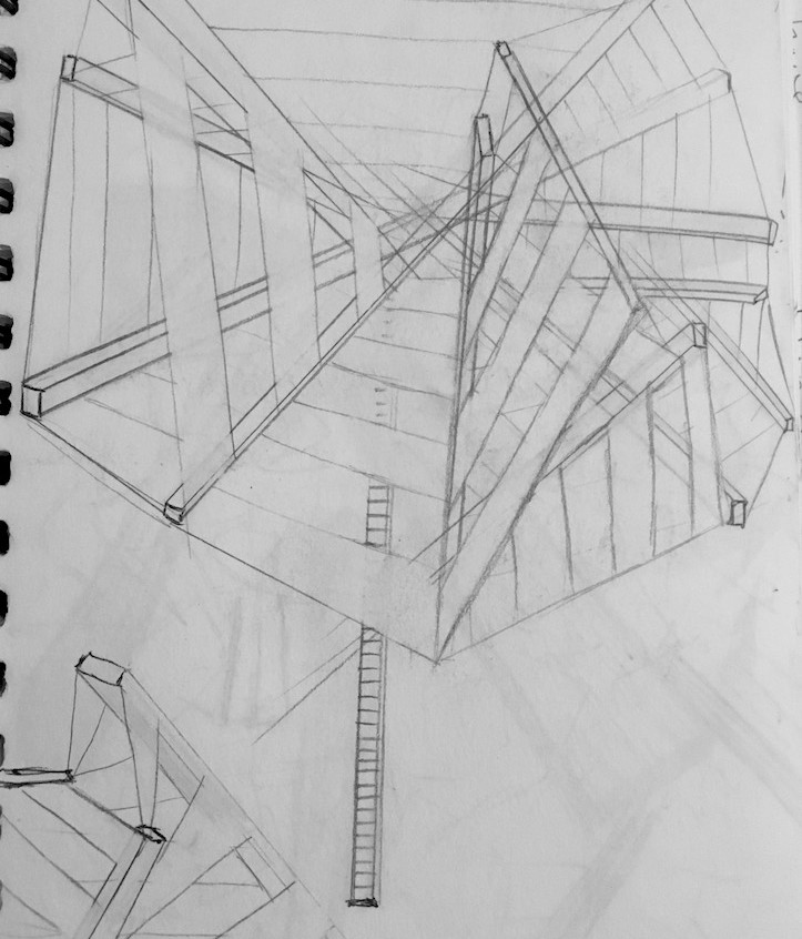 Collapse abstract sketch #3