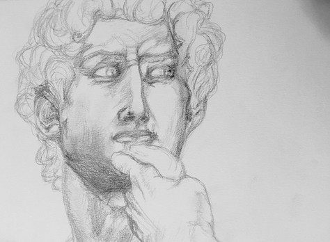 Observational sketches of Michelangelo's David