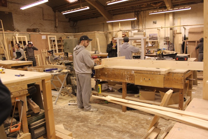 Photograph taken inside Ace Joinery