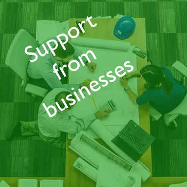 Support from business