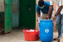 Our EcoGram blue bins for shops