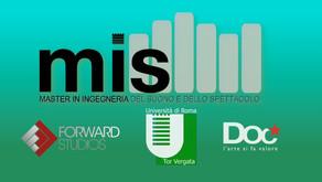 FORWARD STUDIOS + DOC SERVIZI + MASTER IN INGEGNERIA DEL SUONO DELLO SPETTACOLO