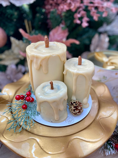 Trio de Velas de Natal