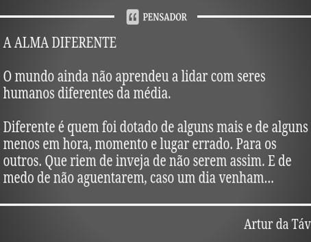 A dificuldade de ser diferente