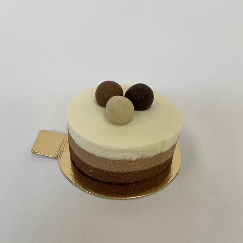 Mousse de 3 tipus de xocolata