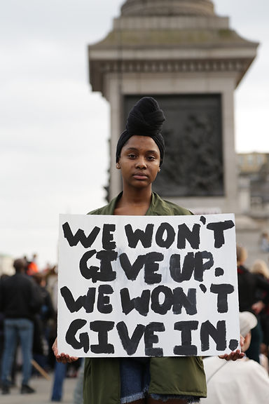 Protester holding sign at the Women's March 2017